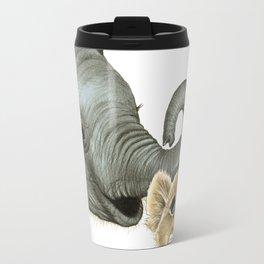 Elephant Calf and Lion Cub Travel Mug