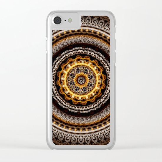 Mandala with tribal patterns Clear iPhone Case