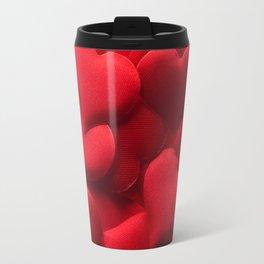 Red hearts background Travel Mug