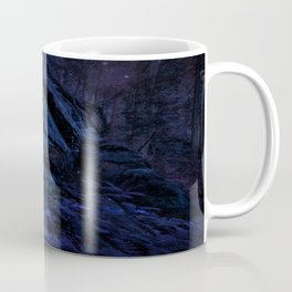 Enchanted Midnight Forest Wall Coffee Mug