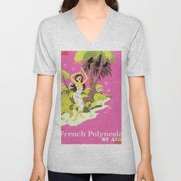 French Polynesia by air Unisex V-Neck