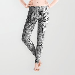 Moscow White Map Leggings
