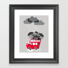 When Skies are Grey Framed Art Print