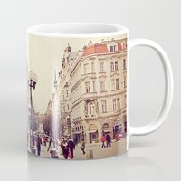 prague Mugs featuring Prague by Sushibird