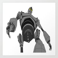 iron giant Art Prints featuring Iron Giant. by Steven Goddard
