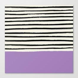 Lavender x Stripes Canvas Print