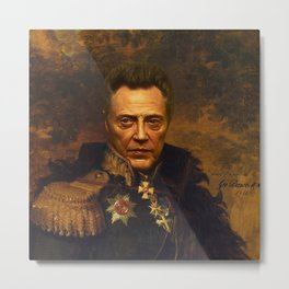 Christopher Walken - replaceface Metal Print