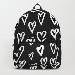 Pattern with hand-drawn Hearts Backpack