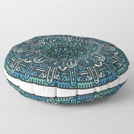 Winter Mandala Floor Pillow