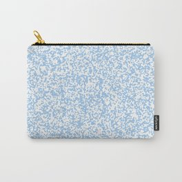 Tiny Spots - White and Baby Blue Carry-All Pouch