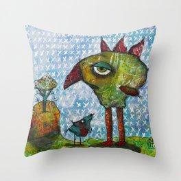 Burg, Meef & The Gum Gum Tree Throw Pillow