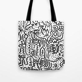 Street Art Graffiti Love Black and White Tote Bag