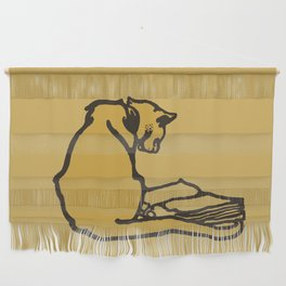 Cool cats read books Wall Hanging