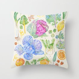 Winter Harvest - Neutral Throw Pillow