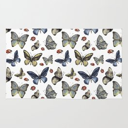 Butterfly and ladybird Rug