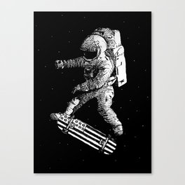 Kickflip in space Canvas Print