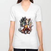 gurren lagann V-neck T-shirts featuring  Kamina by ururuty
