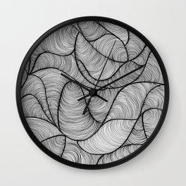 Black Swirl Lines Wall Clock
