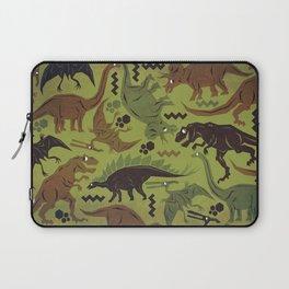 Camouflage Dinosaur Geometric Pattern Laptop Sleeve