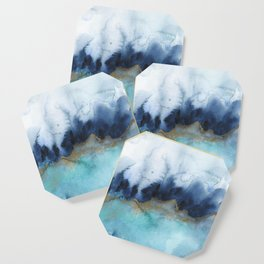Mystic abstract watercolor Coaster