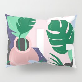 Ferns and Letters Pillow Sham