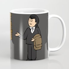 drawing of a guy confused about what wall art is Mug