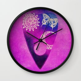 Purple Pretty Ouija Planchette, Occult Art, Ouija Art Wall Clock