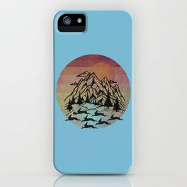 Bunny Herd At Sunset iPhone Case
