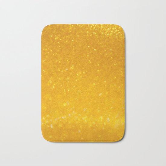 Golden lights Bath Mat
