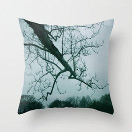 Gray Skies Throw Pillow