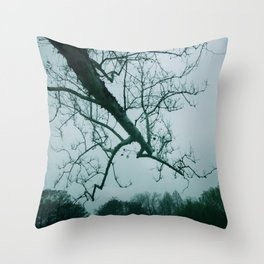 Gray Skies Throw Pillow