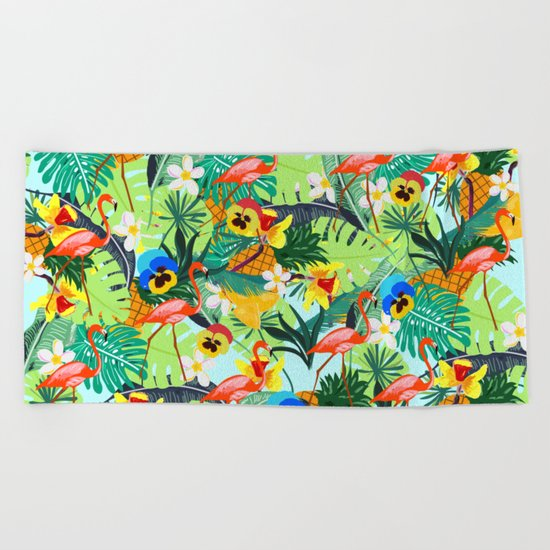 Tropical III Beach Towel