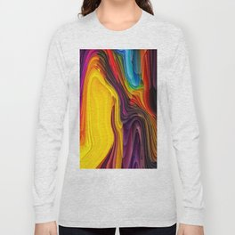 Melting Pot of Colors Abstract Long Sleeve T-shirt