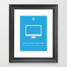 Friday Night Framed Art Print