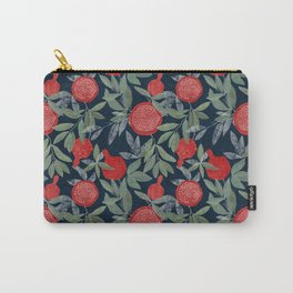 Red pomegranates on dark Carry-All Pouch