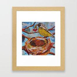 La Belle Bird & Nest Framed Art Print