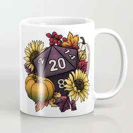 Harvest D20 - Autumn Tabletop Gaming Dice Coffee Mug