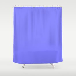 Periwinkle Solid Color Shower Curtain