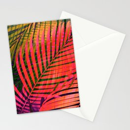 COLORFUL TROPICAL LEAVES no4 Stationery Cards
