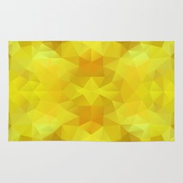 Triangles design in bright yellow colors Rug