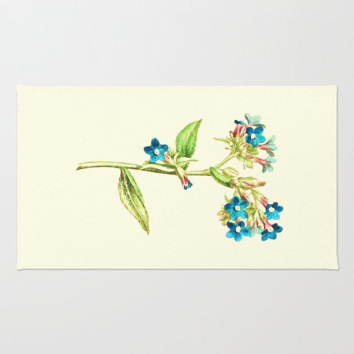 Columbine Flowers Rug