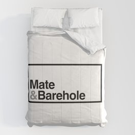 Mate & Barehole / Crate and Barrel Logo Spoof Comforters