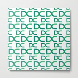 Decent - Creative Crypto Pattern Art (Large) Metal Print
