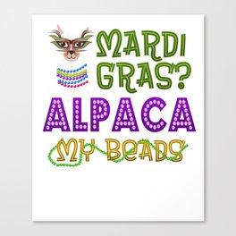 Mardi Gras Parade 2019 Beads Party Shirt Gift Idea Light Canvas Print
