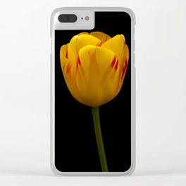 A Flaming Tulip Clear iPhone Case