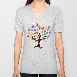 People Tree of Humanity Unisex V-Neck