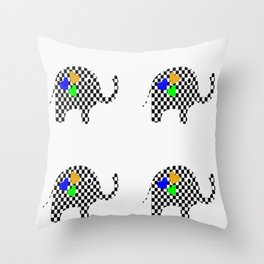 Stampede Of Elephants Throw Pillow