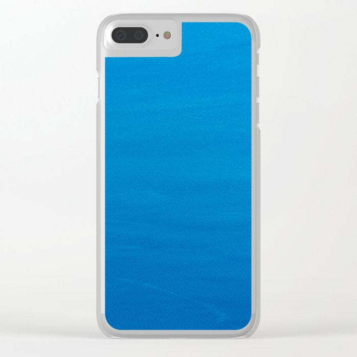 Crater Lake Blue Clear iPhone Case