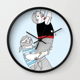 On how some species of mermen resolve trivial quarrels Wall Clock