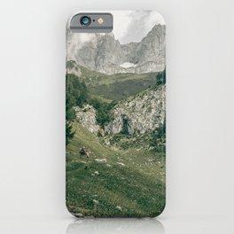 Peaceful Mountains   Landscape Photography Alps   Print Art iPhone Case